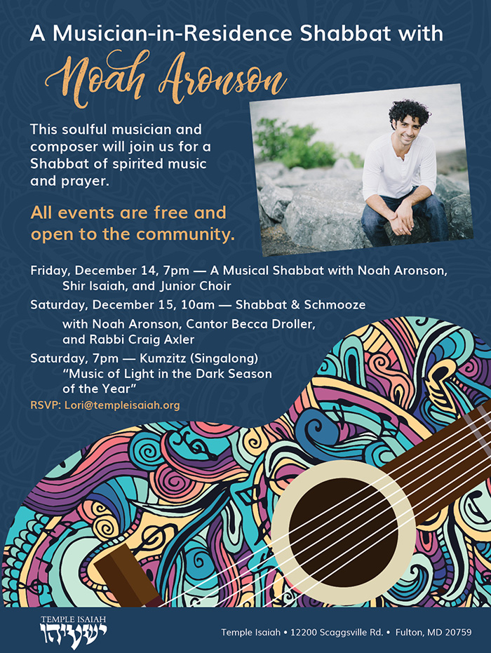 A Musician-in-Residence Shabbat with Noah Aronson